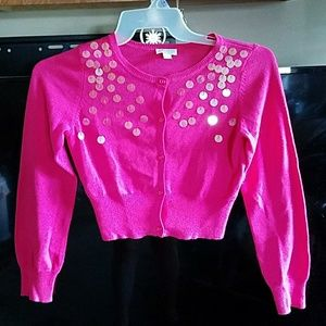 Girls Pink sweater Size extra large (14)